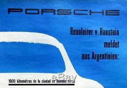 Original Porsche Affiche Poster 1958 Porsche 356 la Anfangsjahre Porsche Rare