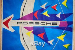 Original Porsche Affiche Poster 356 Publicité la Premières Années 1956 Rare