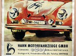 Original Porsche Affiche Poster 356 de 1951/52 Robinet / Stuttgart Rare