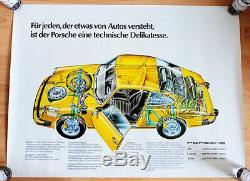 Original Porsche Affiche Poster 911 1976 Légendaire Modèle G Rare