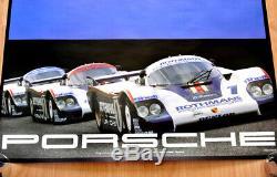 Original Porsche Affiche Poster Affiche le Mans 1982 Rothmans Porsche