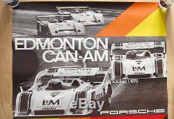Original Porsche Affiche Poster Edmonton Can-Am 1972 Porsche 917