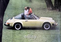 Original Porsche Affiche Poster La Première 911 Sc 1978 911