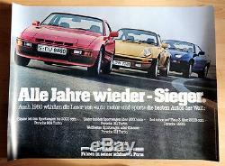 Original Porsche Affiche Poster Sieger-Bestes Voiture le Welt 1980 911