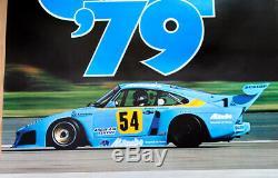 Original Porsche Affiche Poster Tasse 1979 Ludwig Kremer 935 Turbo