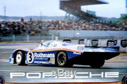 Original Porsche Affiche de Course Poster le Mans 1983 Victoire Rothmans 956