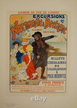 Original Poster Maitre de l'Affiche PL 31 Excursions en Normandie et Bretagne