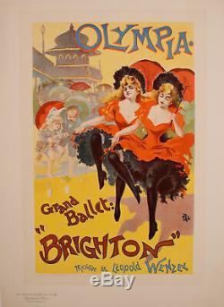 Original Poster Maitre de l'Affiche PL 35 Olympia, Grand Ballet Brighton PAL
