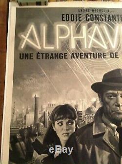 Original french poster alphaville jean luc godard Mascii / affiche originale
