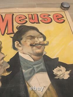 Original large French poster affiche La meuse 1895 LUDEK MAROLD Lemercier Paris