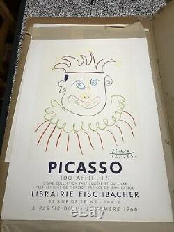 PICASSO Affiche Originale Poster Galerie Fischbacher Paris 1966 Mourlot