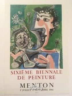 PICASSO FINE ORIGINAL EXHIBITION POSTER 1966 UNLINED Affiche originale
