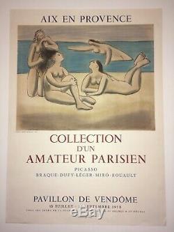 PICASSO Original exhibition poster 1958 Affiche originale