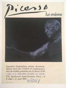 PICASSO POSTER La Hune 1957 Picasso Affiche originale