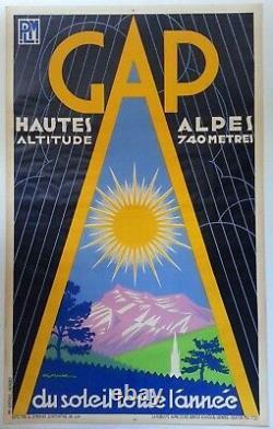PLM Gap Hautes Alpes Gaston Gorde Affiche ancienne/original poster 1932