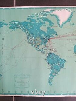 Pan American Airways System Affiche ancienne/original poster 1963