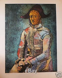 Picasso Affiche poster par H Deschamps Exposition 1964 Musée Gemmail Tours