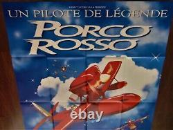 Porco Rosso Affiche ORIGINALE 120x160cm Poster 47 63 Miyazaki Ghibli