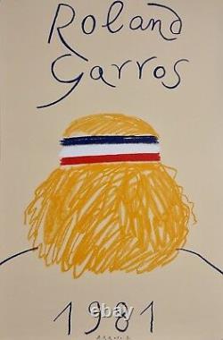 Poster Affiche Roland Garros 1981 Parfait Etat Original