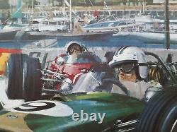 Rare Affiche Originale Grand Prix de Monaco 1968 Michael Turner F1 J. Ramel Nice