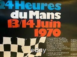 Rare affiche originale victoire Porsche au 24h du Mans 1970