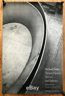 Richard Serra 2001 Signed Poster Gagosian Gallery NYC TWIN TOWERS affiche signé