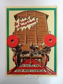 S. NC. F Affiche originale de train poster