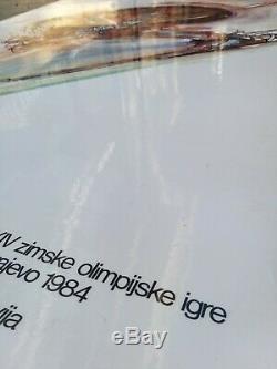 Sarajevo olympic games 1984 Affiche ancienne ski/original poster Mujezinovic