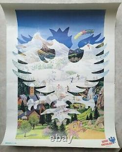 Serre-Chevalier Alpes Lot de 7 affiches anciennes/original travel posters ski
