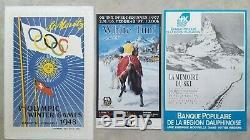 Ski Suisse/Switzerland Lot de 5 affiches anciennes/original posters Hans Falk
