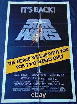 Star Wars Guerre Etoiles Affiche US ORIGINALE 68x101cm POSTER One Sheet 2740