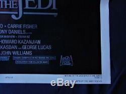 Star Wars VI Retour Jedi Affiche US ORIGINALE 68x104cm POSTER One Sheet 27 41