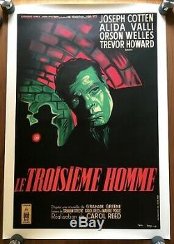 THE THIRD MAN Original French Movie Poster / Affiche ORSON WELLES. VERY RARE