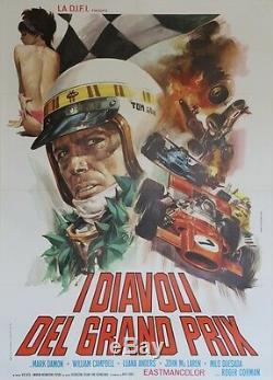 THE YOUNG RACERS Affiche originale italienne entoilée (Roger CORMAN)