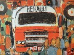 TRACTEUR RENAULT AFFICHE ORIGINALE tractor poster ESTAFETTE GOELETTE 1960 1970