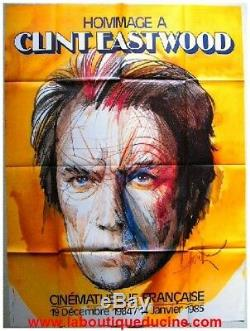 TRIBUTE TO CLINT EASTWOOD Affiche Cinéma / Original French Movie Poster