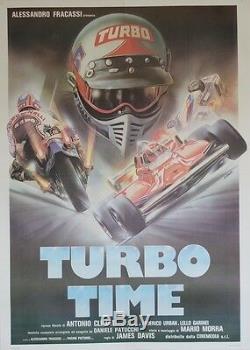 TURBO TIMEAffiche originale italienne entoilée Offset E. SCIOTTI (James DAVIS)