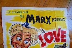 The Marx Brothers Marilyn Monroe Love Happy 1949 Poster Affiche Original