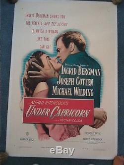 Under Capricorn 1949 Affiche Poster Original Hitchcock Bergman Cotten