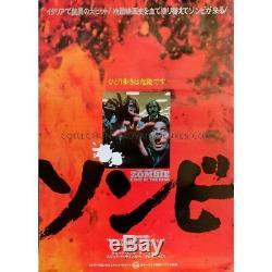 ZOMBIE Affiche Japonaise Originale 1979 Romero Dawn of the dead poster